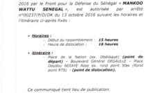 LA MARCHE DE L'OPPOSITION AUTORISÉE
