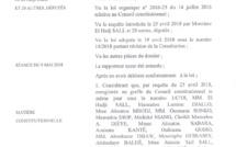 ADOPTION DE LA LOI SUR PARRAINAGE : Le Conseil Constitutionel tranche... (DOCUMENTS)