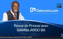 Revue de presse du Mercredi 20 Juin 2018(Français)
