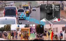 Cortège funéraire : Un convoi exceptionnel de véhicules accompagne Pape Bouba Diop à Rufisque.