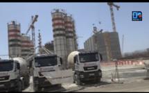 Infrastructure : Les piliers du futur terminal d'export du gaz naturel liquéfié en construction à Dakar.