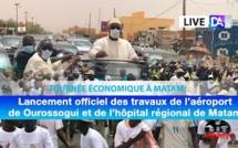 [LIVE - Ourossogui]: Lancement officiel des travaux de l'aéroport de Ourossogui et de l'hôpital...