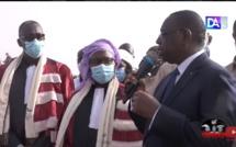 Pose de 1ère pierre de l'ISEP de Matam : Le président Macky Sall félicite le ministre Cheikh Oumar Anne et lui réaffirme son soutien.