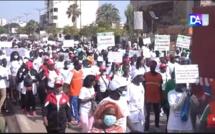Marche pacifique de sensibilisation des leaders des coalitions de partis : les candidates investies appellent au calme